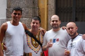 Arthur Mitke, Edu Goldenberg, Leo Bemoreira Boechat e Luiz Antonio Simas, rua do Ouvidor, 08 de dezembro de 2007