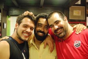 Bruno Tirone, Fernando Szegeri e Daniel Frangiotti na livraria Folha Seca, 08 de dezembro de 2007