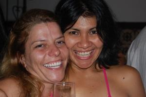 Dani Pureza e Railídia no Trapiche Gamboa, 08 de dezembro de 2007