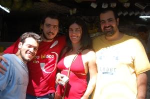 Bruno, Favela, Milena e Daniel, bar do Chico, Tijuca, 09 de dezembro de 2007