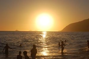 pôr do sol em Ipanema em 30 de dezembro de 2007