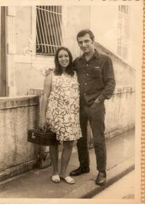 Mariazinha Goldenberg (mamãe) e Isaac Goldenberg (papai), abril de 1969