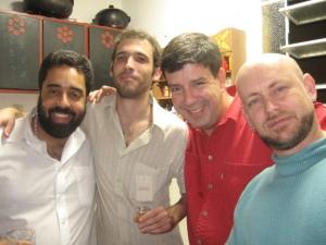 Fernando Szegeri, Bruno Ribeiro, Eduardo Goldenberg e Luiz Antonio Simas, 22 de junho de 2007, São Paulo