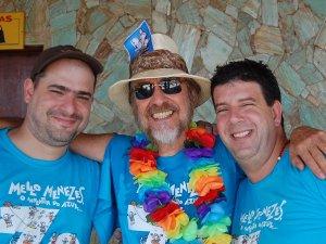 Leo Boechat, o Bemoreira, Mello Menezes e eu, Eduardo Goldenberg, Paquetá Iate Clube, 08 de março de 2008
