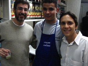 Marcelo Alves Vidal (a Lenda), Julio César (o Imperador) e Felipe Quintans (o Felipinho Cereal), no RIO-BRASÍLIA, noite de sexta-feira, 19 de setembro de 2008