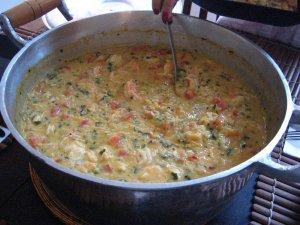 risotto de camarão pronto