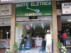 fachada da MARTE ELÉTRICA, rua do Matoso, na Tijuca, foto de Felipe Quintans