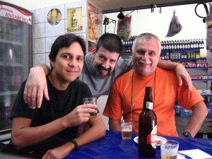 Felipe Quintans, Eduardo Goldenberg e Isaac Goldenberg na QUITANDA ABRONHENSE, em 20 de setembro de 2008