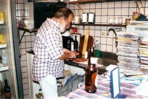 Alfredinho trabalhando no BIP BIP