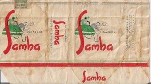 embalagem de maço de cigarros SAMBA, fabricado pela Tabacaria Londres