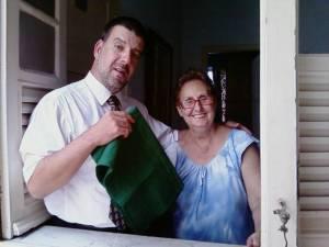 Edu Goldenberg com dona Luiza, 16 de abril de 2009