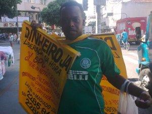 torcedor do Palmeiras no Largo do Machado, Rio de Janeiro, 08 de maio de 2009