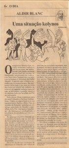crônica publicada no jornal O DIA de 08 de setembro de 1997