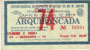 ingresso do jogo final, imagem retirada do site www.flamengo.com.br