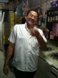 Chico, do BAR DO CHICO, Rio de Janeiro, RJ, na Tijuca