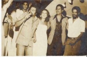 Jorge Aragão, Beth Carvalho, Bira e Ubirany, foto do acervo pessoal de Beth Carvalho