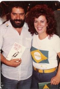 Lula e Beth Carvalho no comício das Diretas Já, no Rio de Janeiro, foto do acervo pessoal de Beth Carvalho