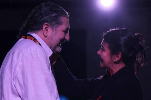Moacyr Luz com Railídia Carvalho