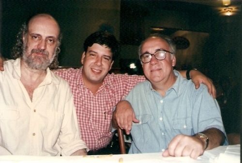 aldir, edu e tostão no bar lagoa, 1998